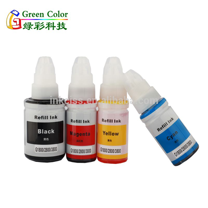Refill dye ink suit for Canon PIXMA G1800 G2800 G3800 G series eco tank printer ink